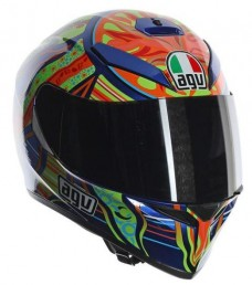 CAPACETE AGV K-3 SV ROSSI 5 CONTINENTS